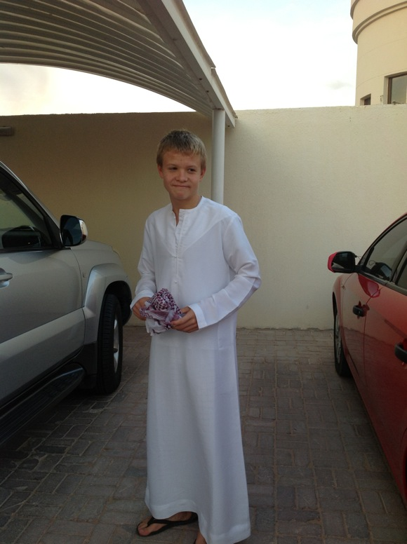 Toby on his way to National Day